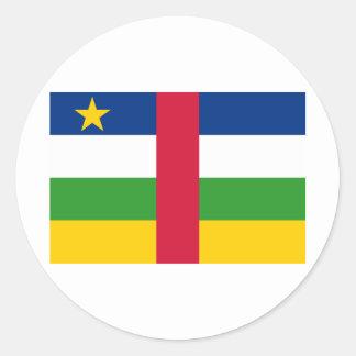 中央アフリカの旗のCF ラウンドシール