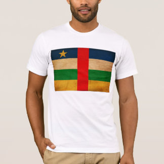 中央アフリカの旗のTシャツ Tシャツ
