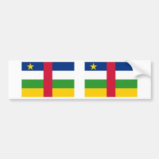 中央アフリカの旗 バンパーステッカー