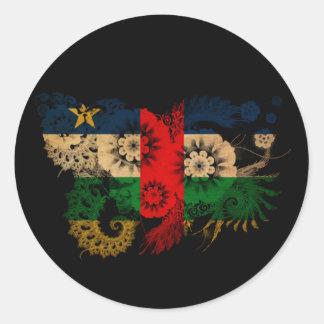 中央アフリカの旗 ラウンドシール