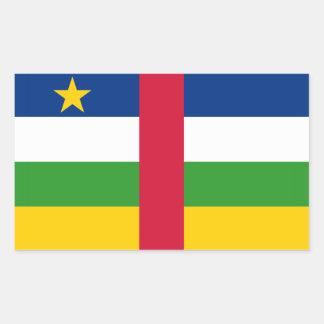 中央アフリカの旗 長方形シール