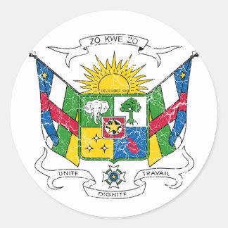 中央アフリカの紋章付き外衣 ラウンドシール