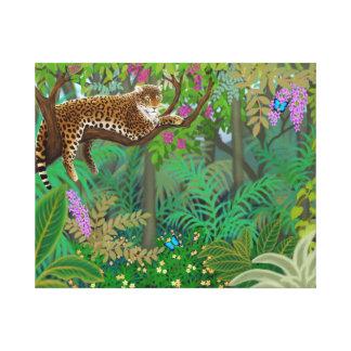 中央アメリカのジャングルのキャンバスプリントのヒョウ キャンバスプリント
