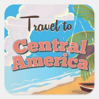 中央アメリカのヴィンテージ旅行ポスター スクエアシール