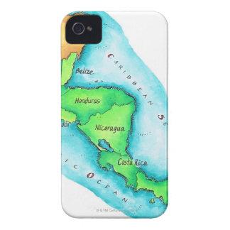 中央アメリカの地図 Case-Mate iPhone 4 ケース