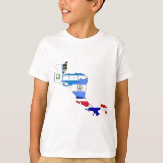 中央アメリカの旗の地図 Tシャツ
