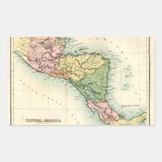 中央アメリカの旧式な地図 長方形シール