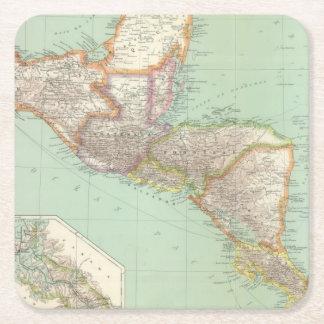 中央アメリカ4 スクエアペーパーコースター