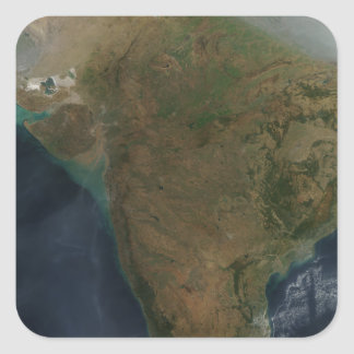 中央インドの衛星眺め スクエアシール