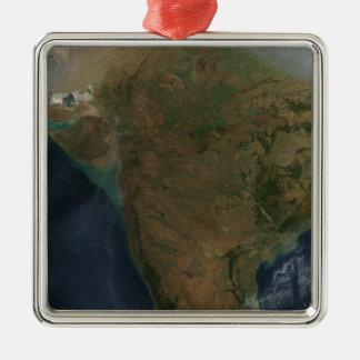 中央インドの衛星眺め メタルオーナメント