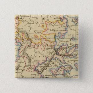 中央ドイツ 5.1CM 正方形バッジ