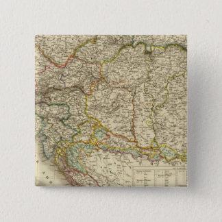 中央バルカン半島オーストリアハンガリー 5.1CM 正方形バッジ
