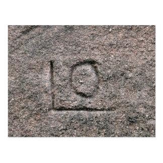中央ヨーロッパからのゴシック様式石大工の印 ポストカード