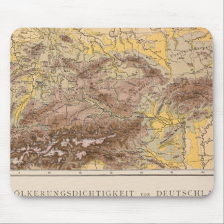 中央ヨーロッパの地図書の地図 マウスパッド