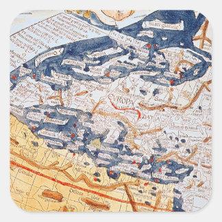 中央ヨーロッパ1486年の地図 スクエアシール