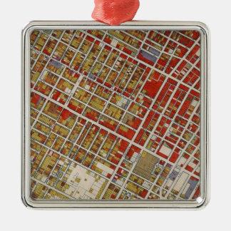 中央ロサンゼルスのWPAの地図 メタルオーナメント