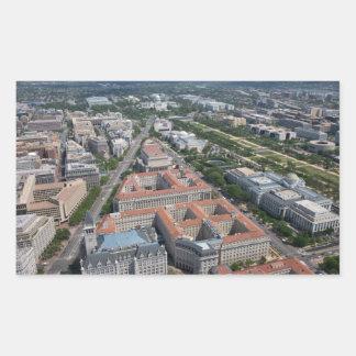中央政府三角形のWashington D.C. 長方形シール