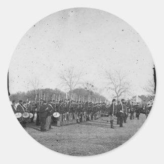 中央政府海軍の写真。 内戦。 c. 1861年 ラウンドシール