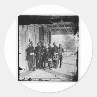 中央政府海軍c. 1861-1862年の写真 ラウンドシール