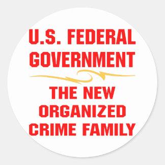 中央政府Gov新しい組織犯罪家族 ラウンドシール