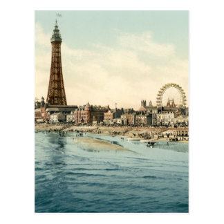 中央桟橋から、ブラックプール、イギリス ポストカード