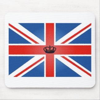 中央王冠が付いている英国国旗 マウスパッド