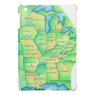 中央米国の地図 iPad MINI カバー