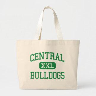 中央-ブルドッグ-後輩- Pollokテキサス州 ラージトートバッグ