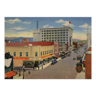 中央Ave。、アルバカーキのヴィンテージ ポスター