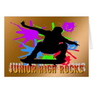 中学の石-スケートボーダー グリーティングカード
