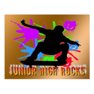 中学の石-スケートボーダー ポストカード