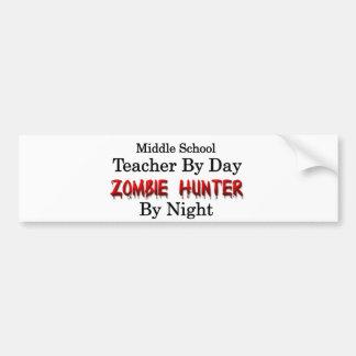中学校の先生かゾンビのハンター バンパーステッカー