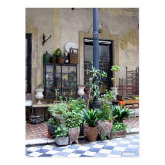中庭の緑植物とのブエノスアイレス場面 ポストカード