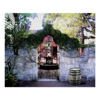 中庭COQUINAの壁 ポスター