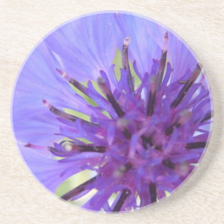 中心から外れた紫色の独身のボタン コースター