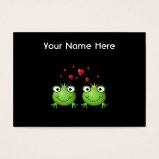 中心が付いているカエルのカップル 名刺