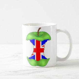 「中心に」の英国国旗 コーヒーマグカップ