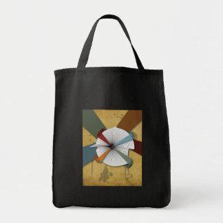 中心のあなた自身デジタルグランジな抽象美術 トートバッグ