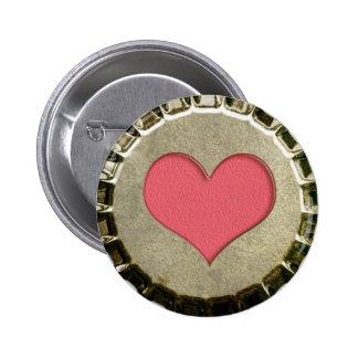 中心のビンの王冠ボタン 5.7CM 丸型バッジ