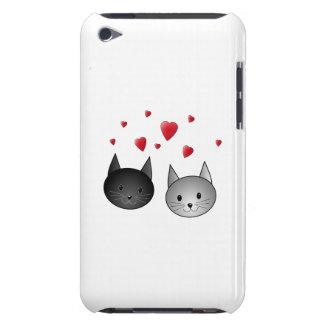 中心を持つかわいく黒いおよび灰色猫、 Case-Mate iPod TOUCH ケース