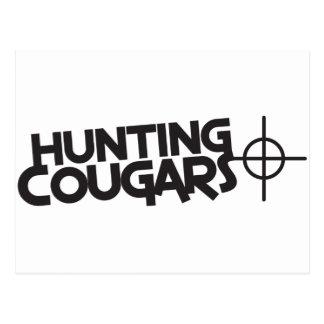 中心点およびターゲットを持つ狩りのクーガー ポストカード