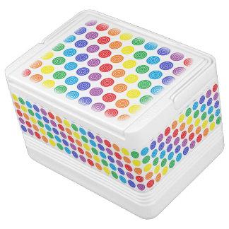 中心点の虹 IGLOOクーラーボックス