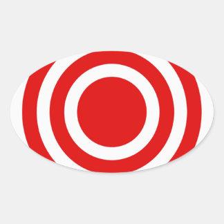 中心点 楕円形シール
