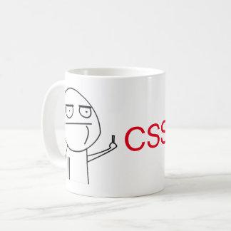 中指CSSプログラマーのコーヒー・マグ コーヒーマグカップ