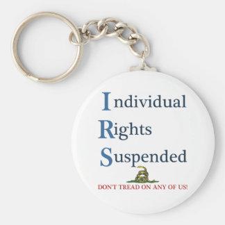 中断されるIRSの個人の権利 キーホルダー