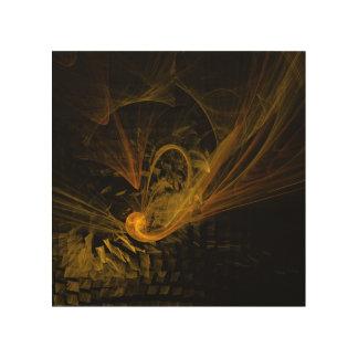 中断点の抽象美術 ウッドウォールアート