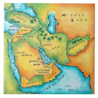 中東の地図 タイル