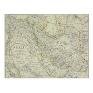 中東の地図 ポストカード