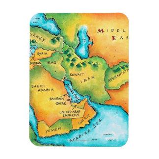 中東の地図 マグネット
