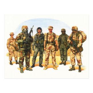 中東の米国の軍隊のユニフォーム ポストカード